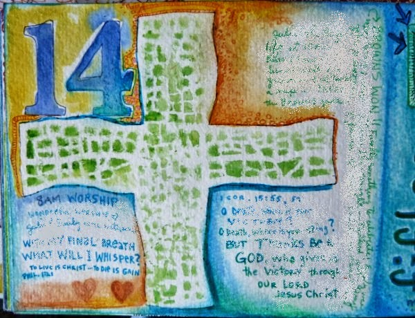 October 2014 StencilClub - Art Journal 1 - Janet Joehlin